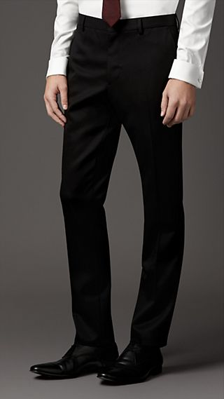 Modern Fit Heritage Wool Twill Trousers