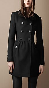 Wool Twill Dress Coat