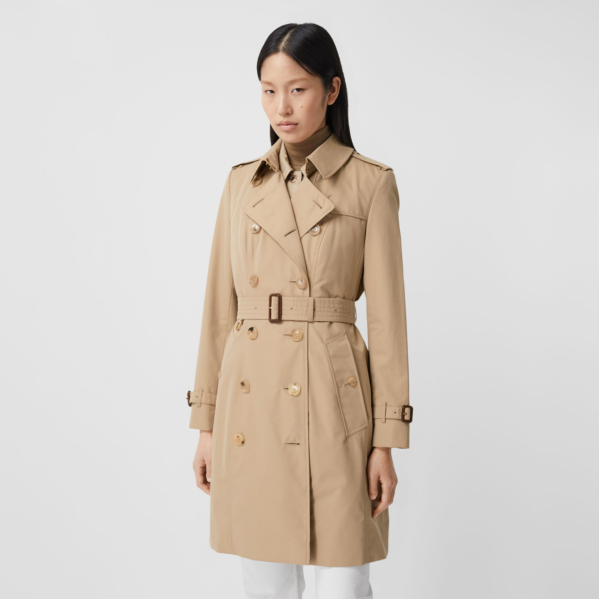 Trench Heritage mi-long The Chelsea (Miel) - Femme | Burberry Canada - photo de la galerie 7