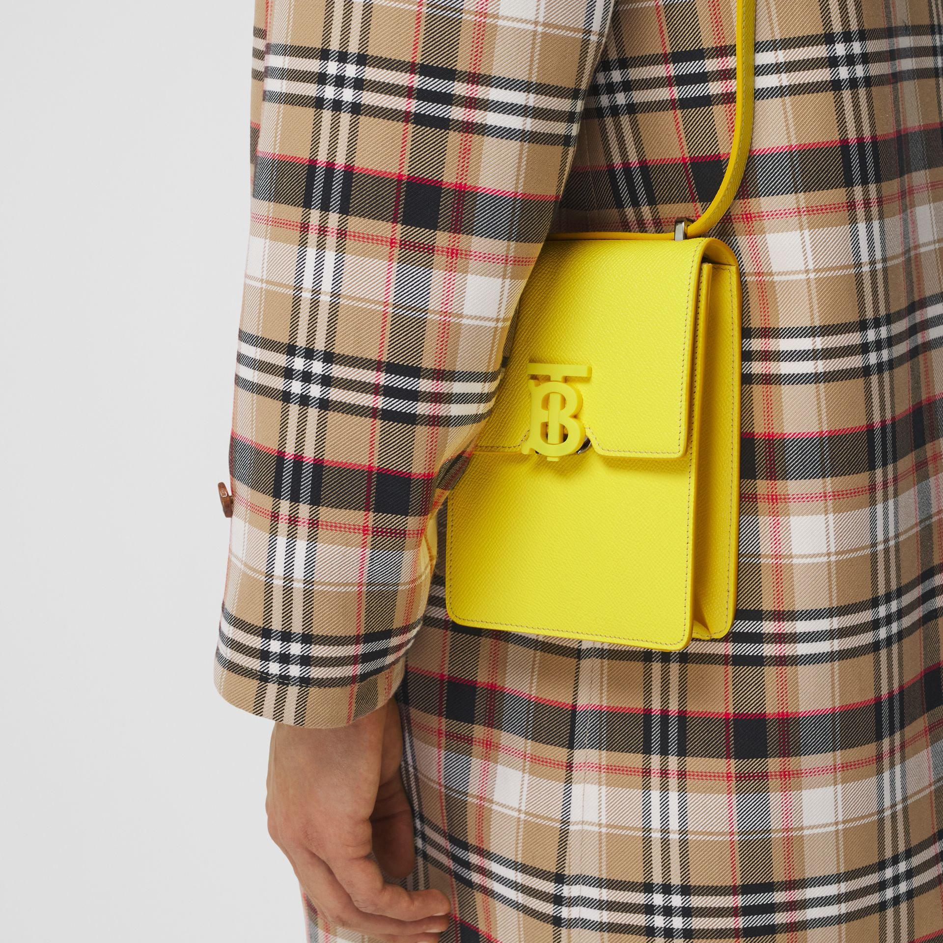 Grainy Leather Robin Bag in Marigold Yellow | Burberry - gallery image 11