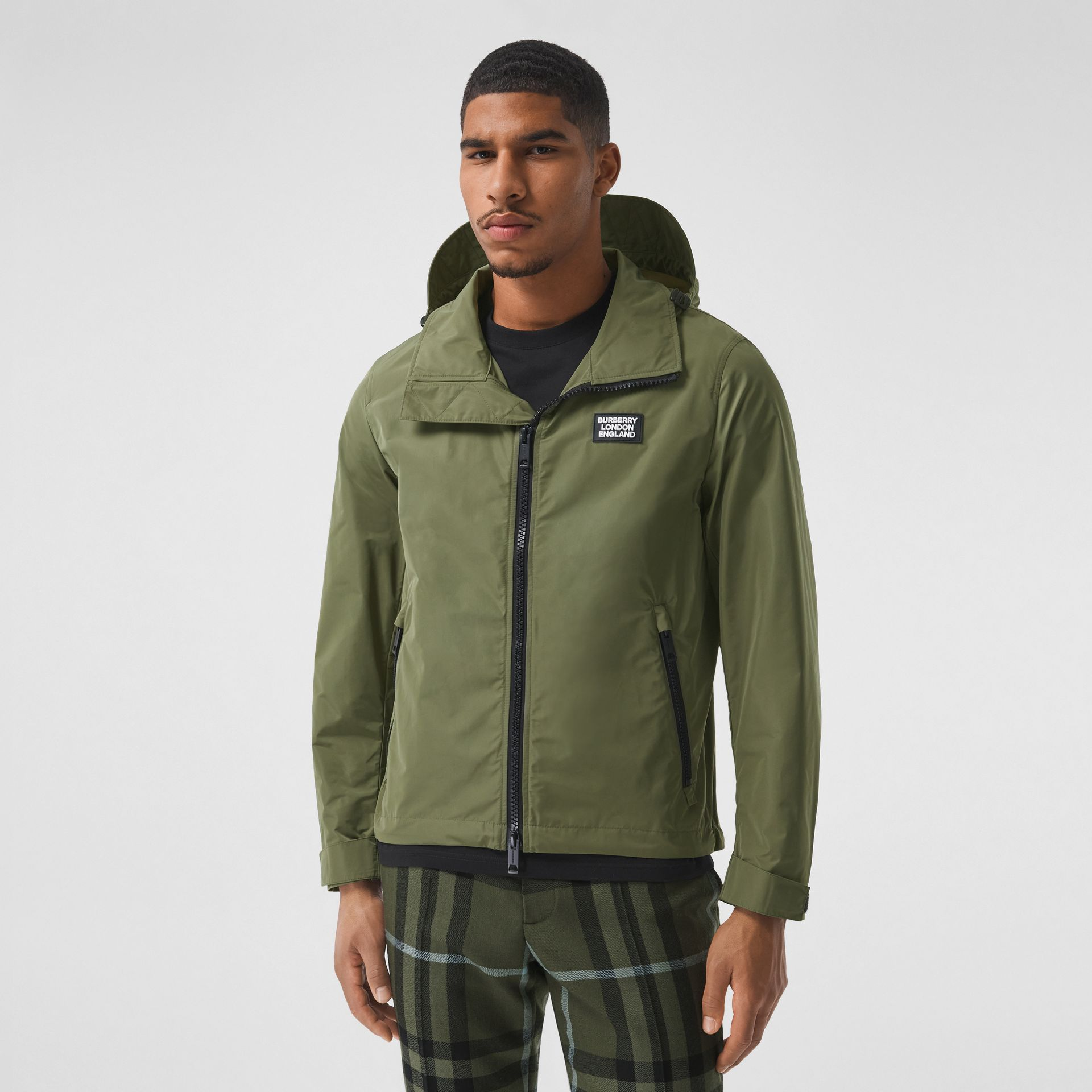 Packaway Hood Shape-memory Taffeta Jacket in Olive - Men | Burberry - gallery image 5
