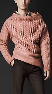 Oversize Aran Knit Sweater
