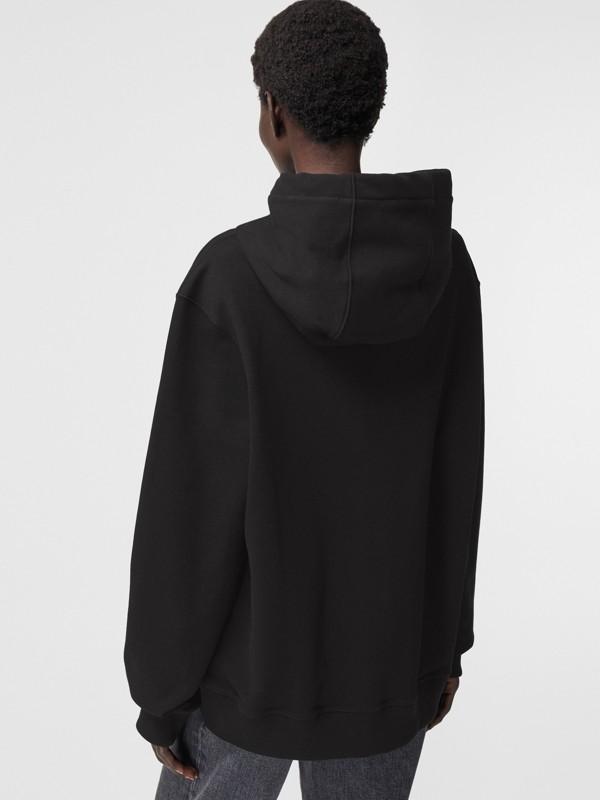 Sweat-shirt à capuche oversize avec imprimé kaléidoscope – Exclusivité en ligne (Noir) - Femme | Burberry - cell image 2