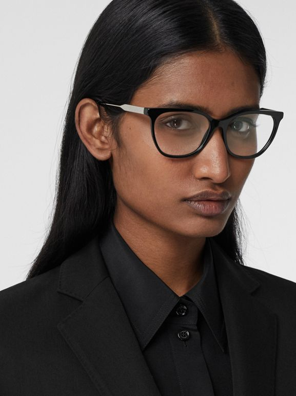 Technical Wool Gabardine Tailored Jacket in Black - Women | Burberry - cell image 1