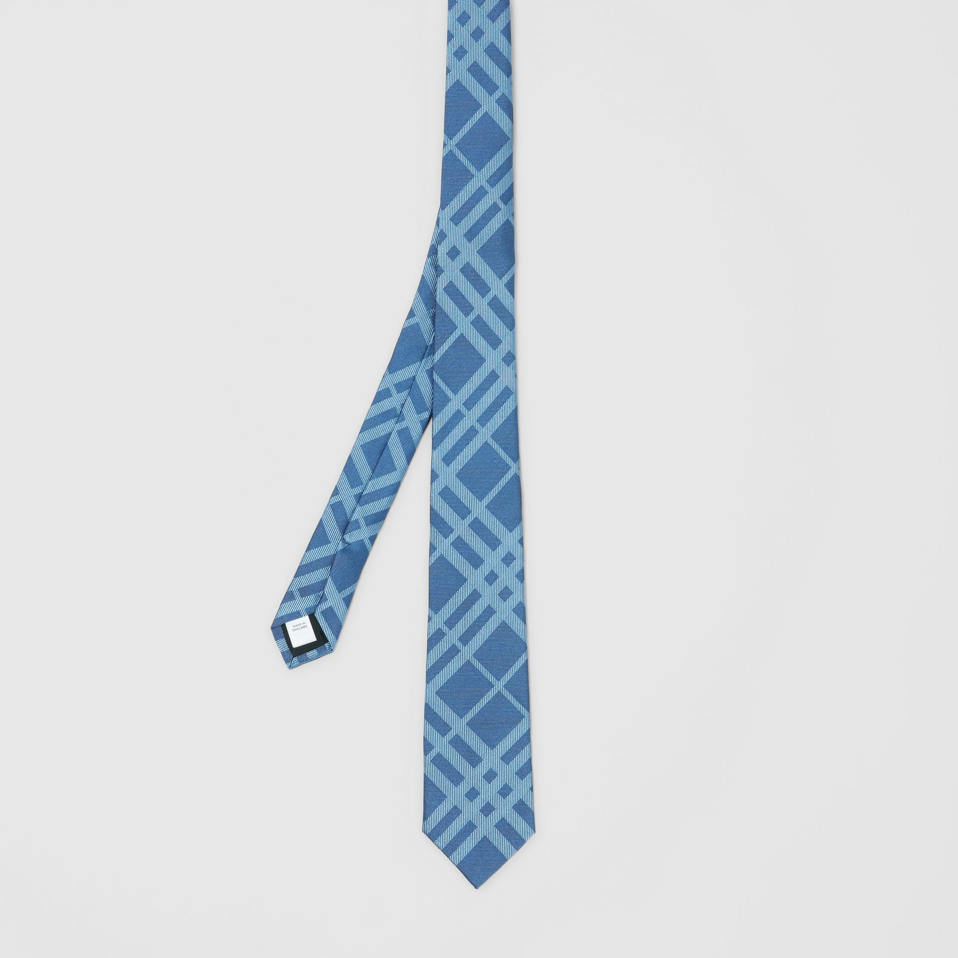 Classic Cut Check Silk Jacquard Tie in Blue Topaz - Men | Burberry - gallery image 4