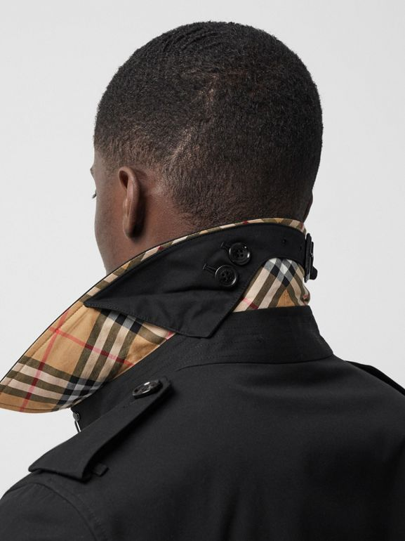 Trench Heritage long The Chelsea (Noir) - Homme | Burberry Canada - cell image 1