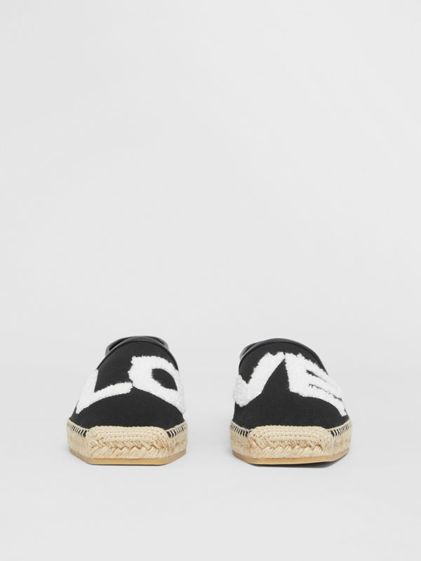 Love Motif Cotton Espadrilles in Black - Women | Burberry - cell image 3