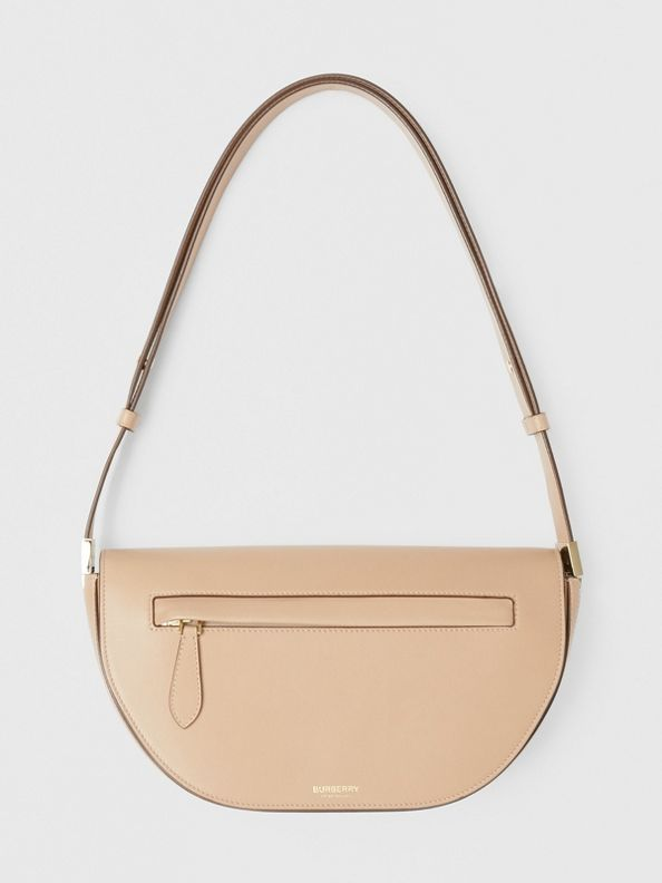 Small Leather Olympia Bag in Light Biscuit