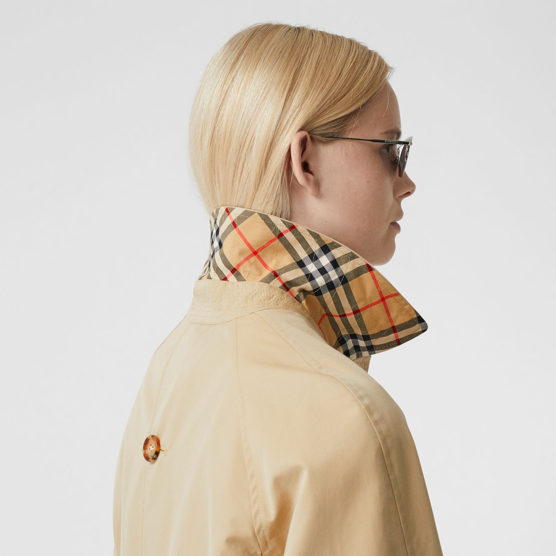 Two-tone Reconstructed Car Coat - Women | Burberry - gallery image 5