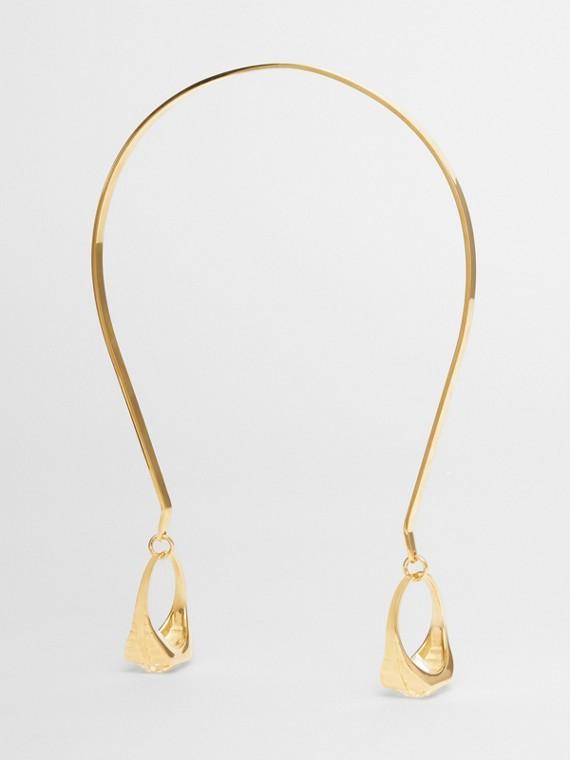 Serre-tête plaqué or avec bagues (Clair/cristal)