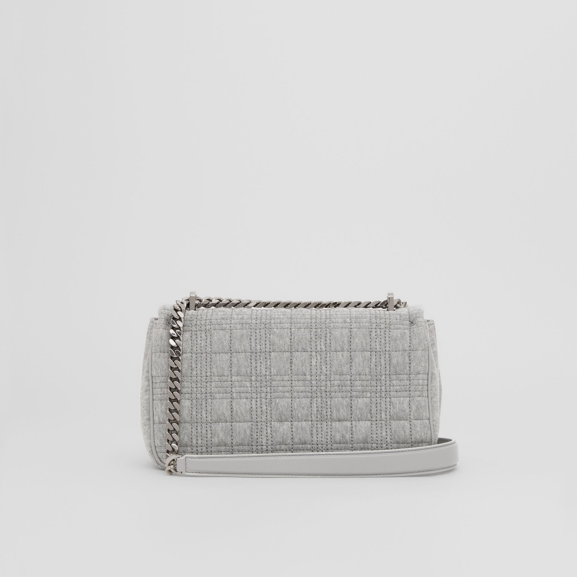 Small Quilted Jersey Lola Bag in Grey Taupe Melange | Burberry - gallery image 3