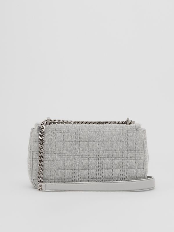 Small Quilted Jersey Lola Bag in Grey Taupe Melange | Burberry - cell image 3