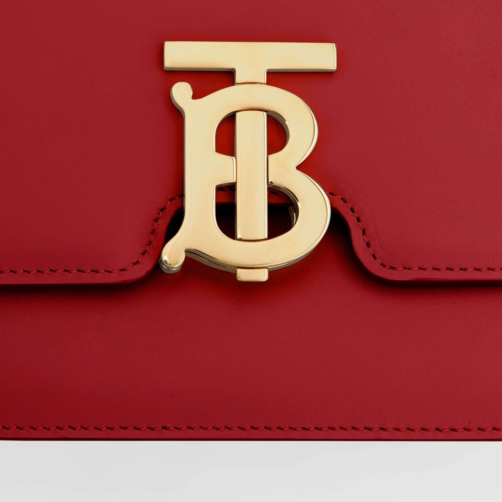 Small Leather TB Bag in Dark Carmine - Women | Burberry Australia - gallery image 1