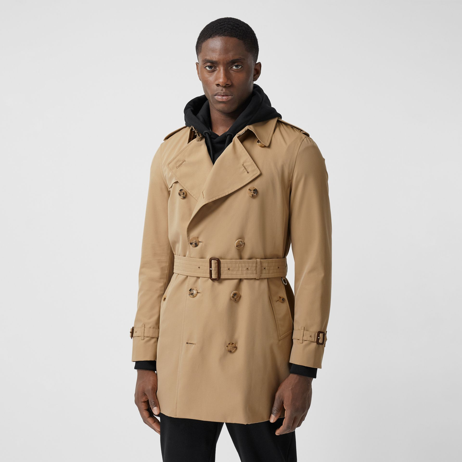 The Short Wimbledon Trench Coat in Honey - Men | Burberry Australia - gallery image 6