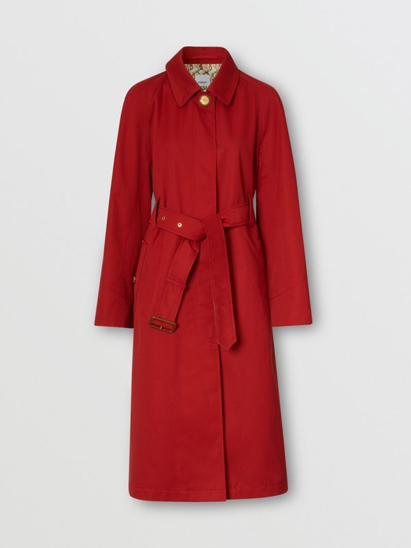 Tropical Gabardine Belted Car Coat in Dark Carmine - Women | Burberry - cell image 3