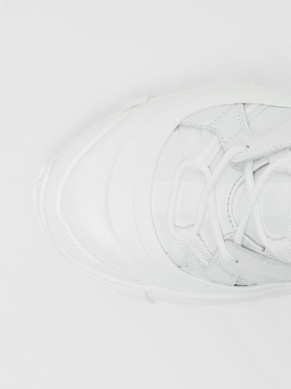 Leather Arthur Sneakers in White - Women | Burberry - cell image 1