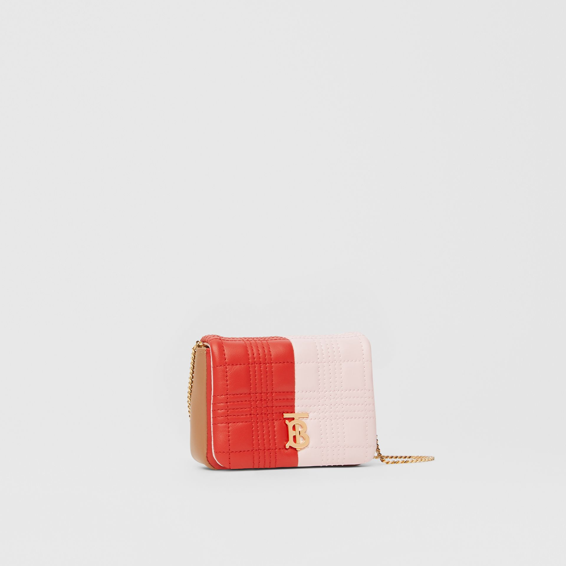 Micro Quilted Tri-tone Lambskin Lola Bag in Red/pink/camel - Women | Burberry - gallery image 6