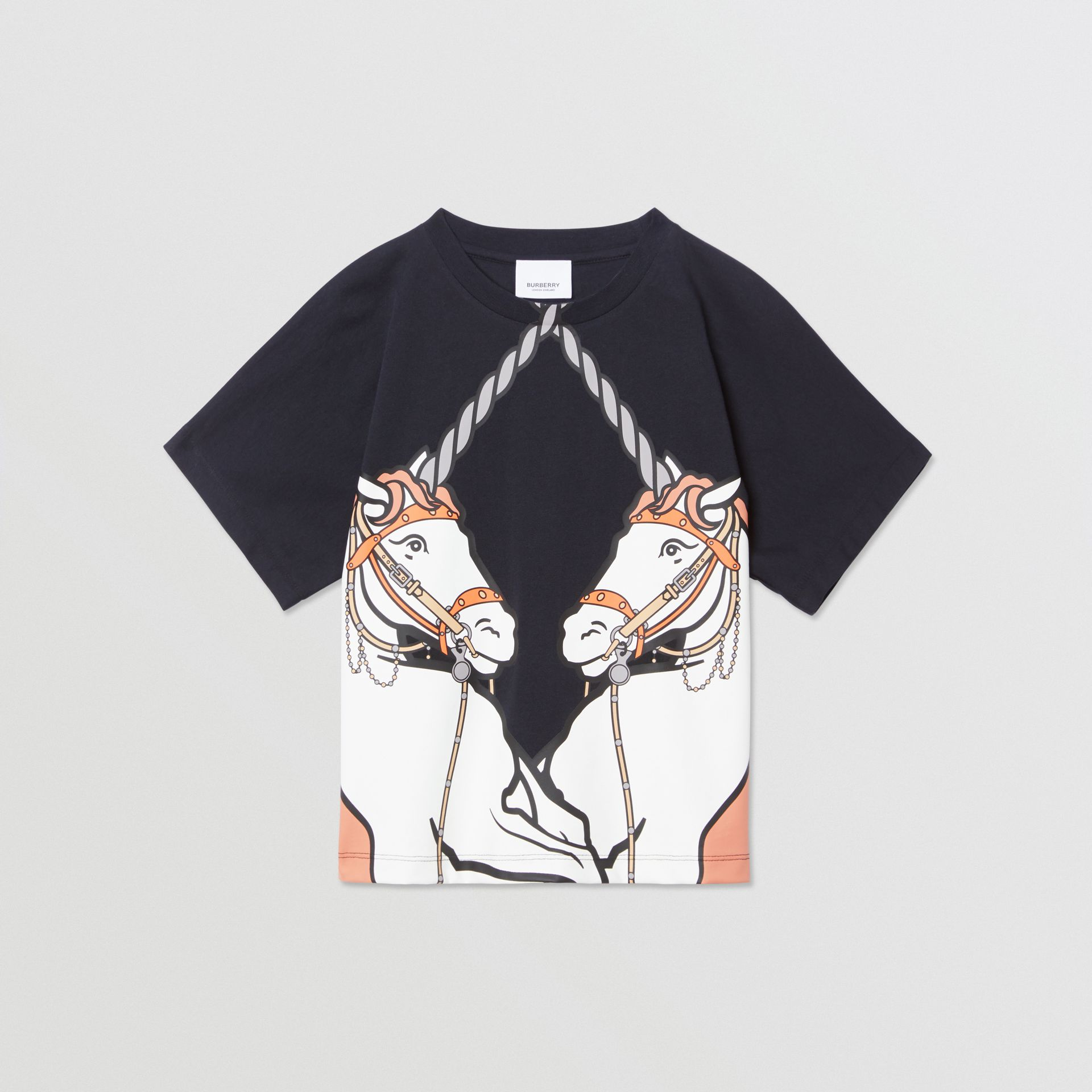 Unicorn Print Cotton T-shirt in Ink   Burberry United Kingdom - gallery image 0