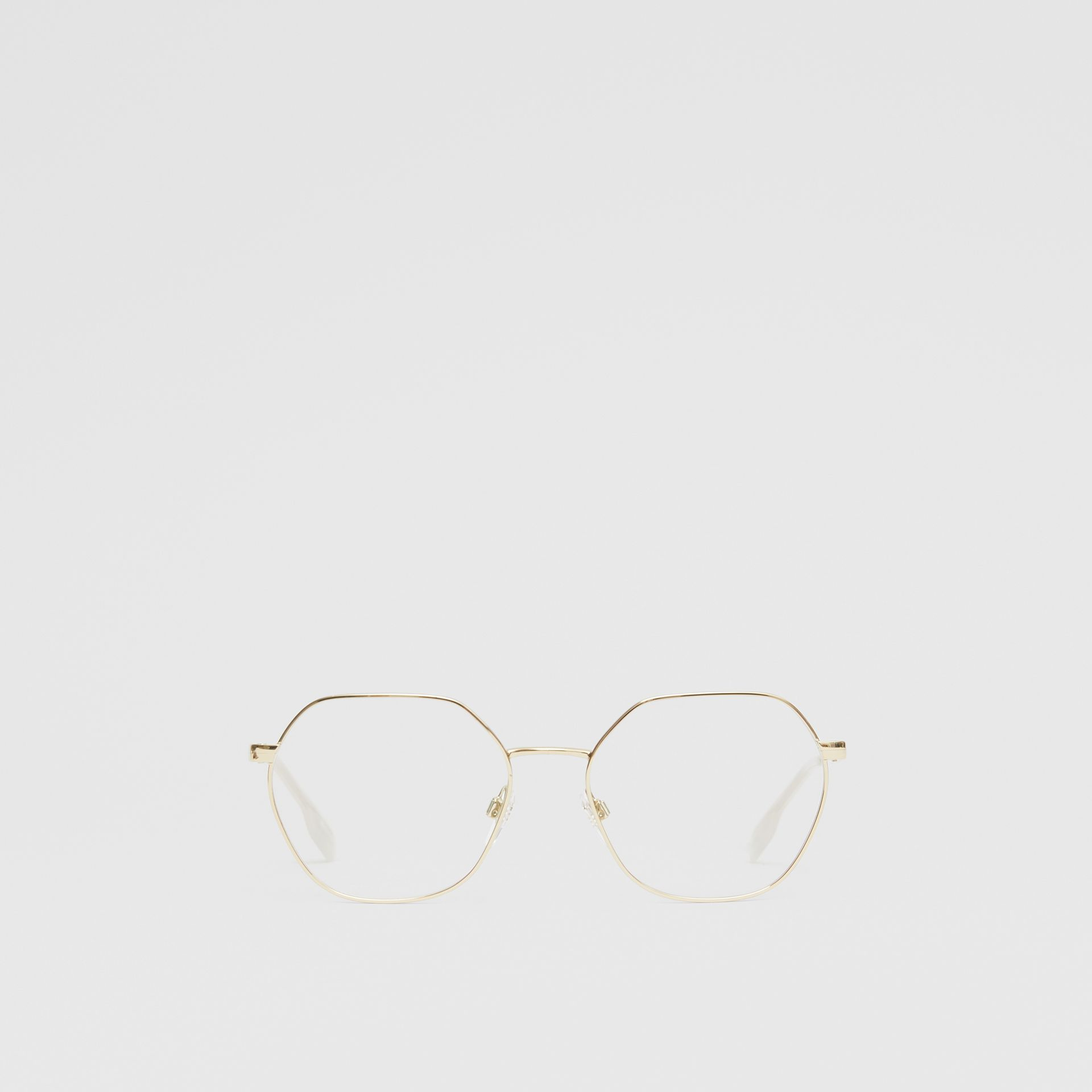 Geometric Optical Frames in Pearl - Women | Burberry - gallery image 0