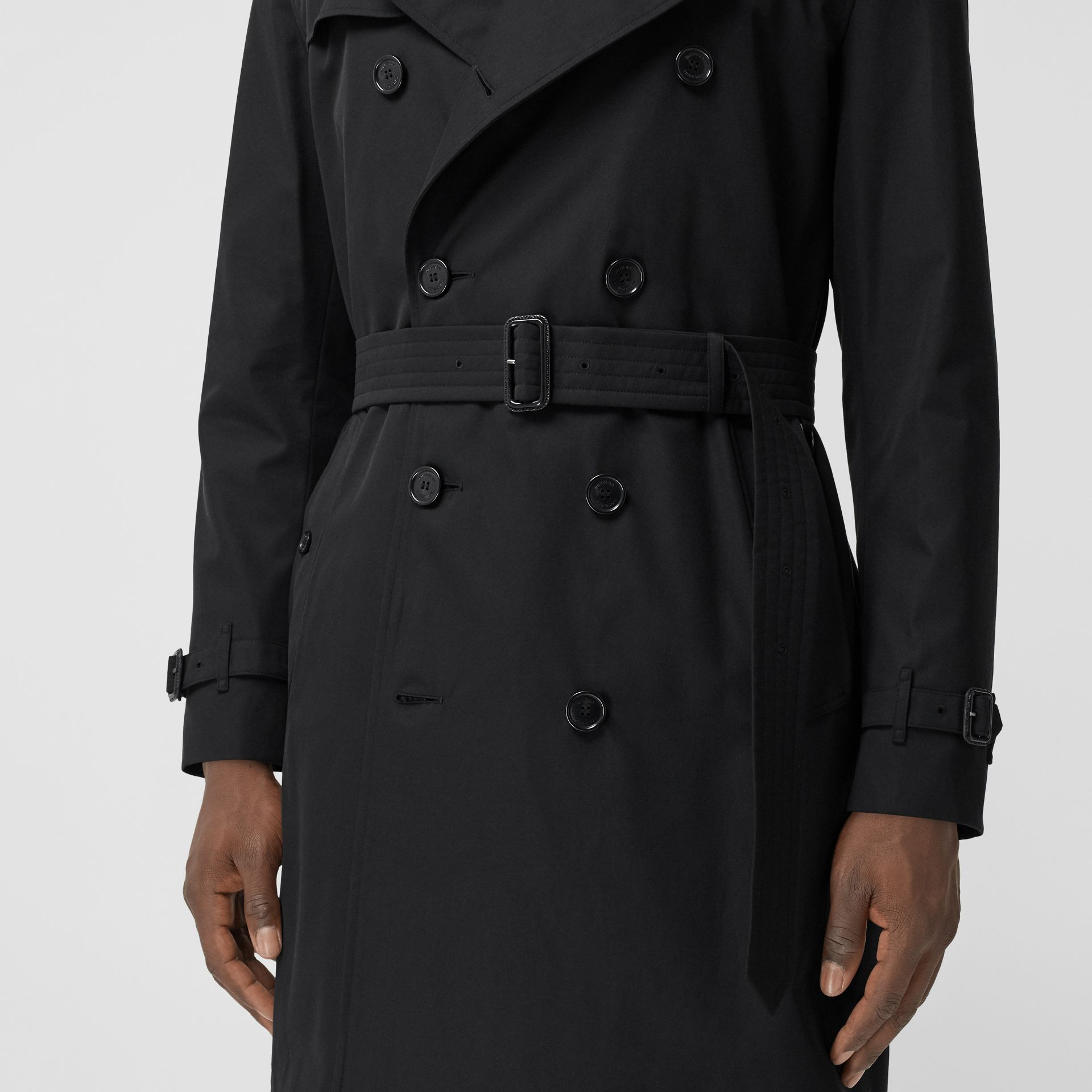 The Mid-length Kensington Heritage Trench Coat in Black - Men | Burberry - gallery image 9