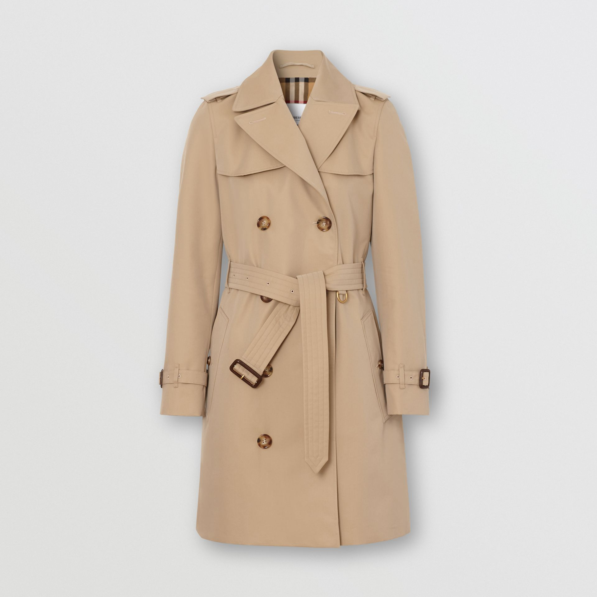 The Short Islington Trench Coat in Honey - Women | Burberry United States - gallery image 3