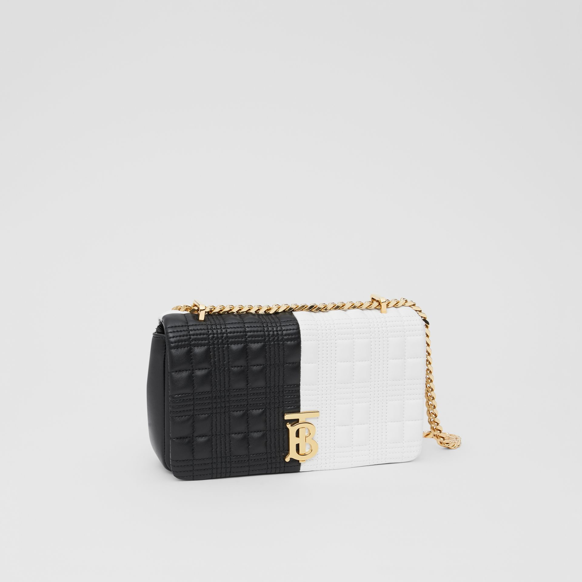 Small Quilted Two-tone Lambskin Lola Bag in White/black - Women | Burberry United Kingdom - gallery image 6