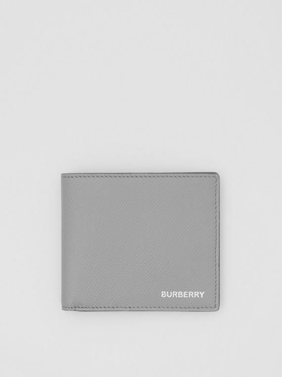 Grainy Leather International Bifold Wallet in Cloud Grey