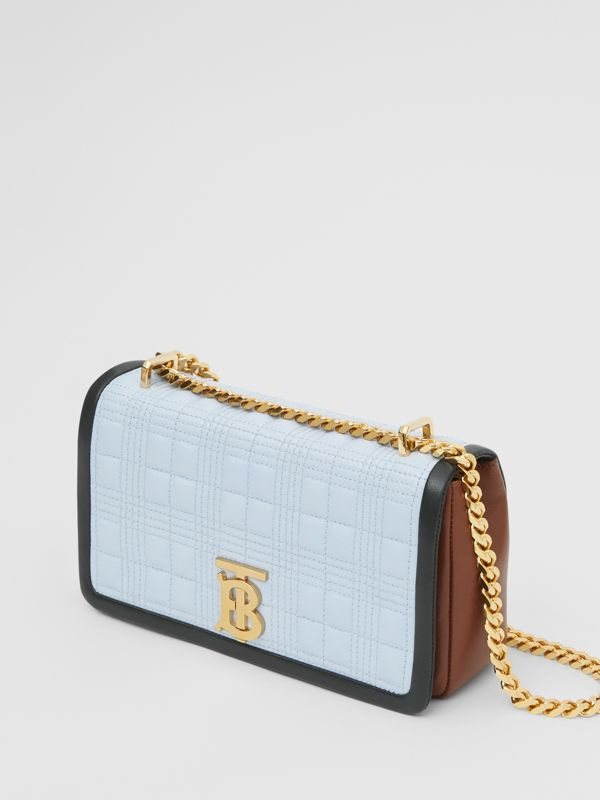 Small Quilted Tri-tone Lambskin Lola Bag in Pale Blue/dark Pine - Women | Burberry - cell image 3