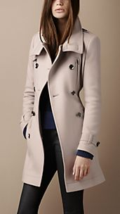 Funnel Neck Wool Coat