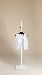 Ruffle Sleeve Cotton Top