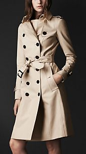Trench-coat en double coton