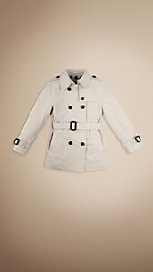 Trench coat corto de botonadura doble