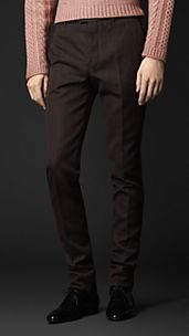 Slim Fit Wool Blend Trousers