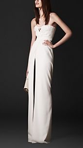 Floor-Length Bustier Dress