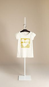 Heart Graphic Puff Sleeve Cotton T-Shirt