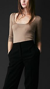 Silk Ribbed Top