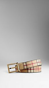 Haymarket Check Reversible Leather Belt