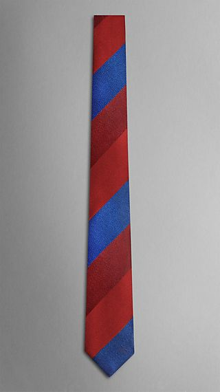 Wide Stripe Silk Tie