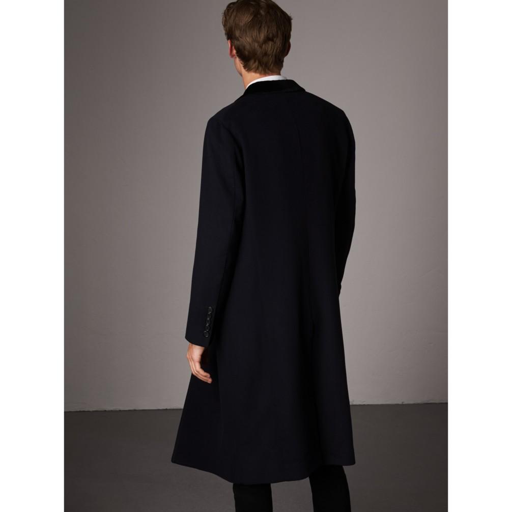 丝绒衣领羊绒混纺大衣 产品图片21图片