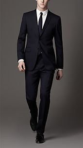 Modern Fit Virgin Wool Blend Suit