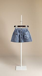 Chambray Cotton Skirt