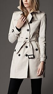 Mid-Length Technical Cotton Trench Coat