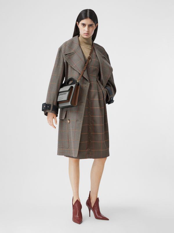 Mini Tri-tone Canvas and Leather Pocket Bag in Black/tan - Women | Burberry - cell image 3