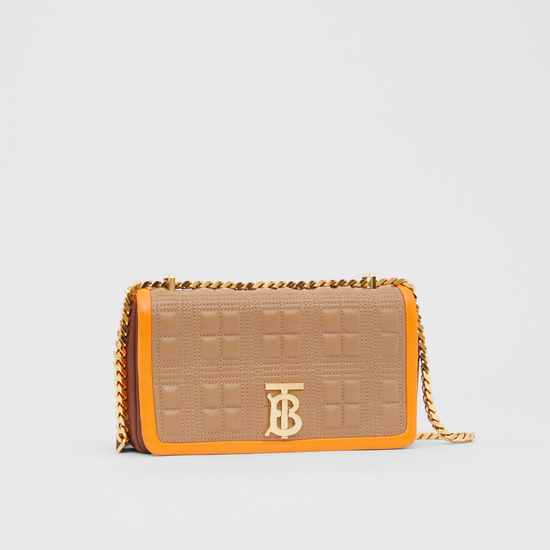 Small Quilted Tri-tone Lambskin Lola Bag in Camel/bright Orange - Women | Burberry - gallery image 6