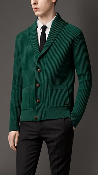 Knitted Cotton Blend Cardigan Jacket