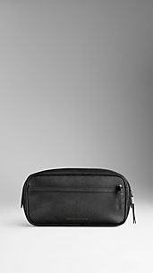 London Leather Washbag