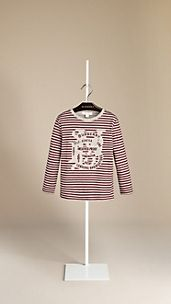 Striped Heritage Graphic T-Shirt