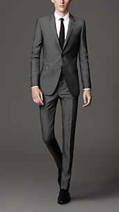 Slim Fit Wool Mohair Suit