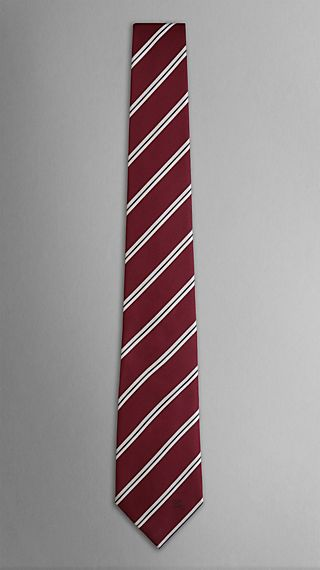 College Stripe Silk Tie