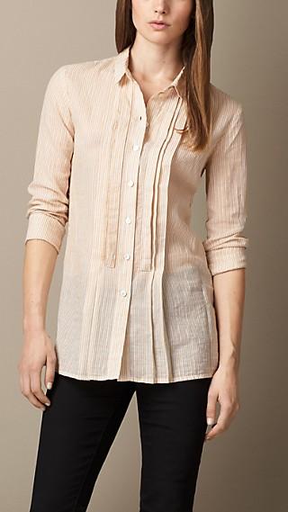 Striped Linen Cotton Silk Shirt